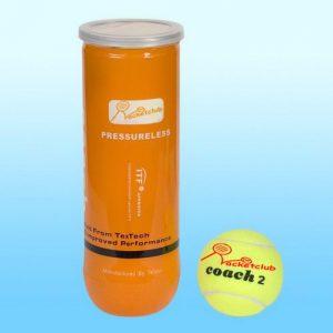 Racketclub Coach2 Comfortable Play Pressure Less Balls – Tube 3 balls