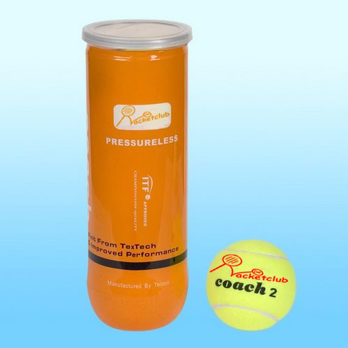 Racketclub Coach2 Comfortable Play Pressure Less Balls – Tube 3 balls